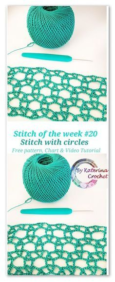Crochet stitch with circles: Free pattern, Chart & Video tutorial