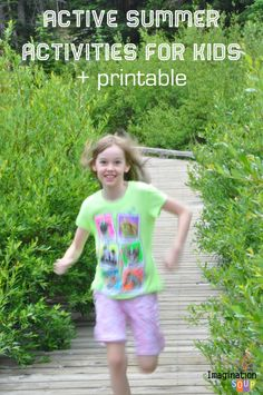 Active Summer Activities for Kids (plus a free printable for the fridge!)
