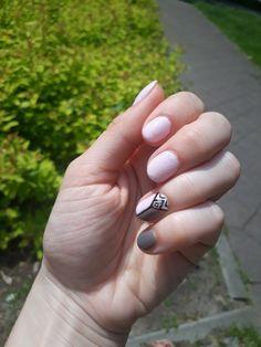 #wedding #lightpink #shellac #elegantnails pink nails, pink and grey nails