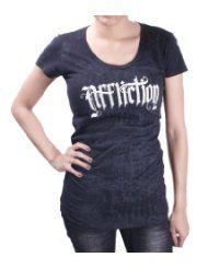 AFFLICTION Troubador Rhinestone Scoop Womens T-Shirt