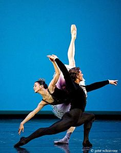 """Osipova and Vasiliev.  Pas de Trois from Balanchine's """"Reflections"""""""