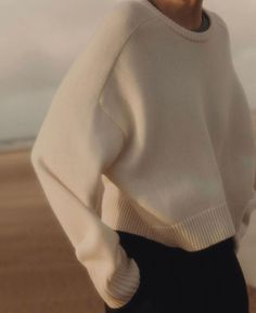 Frankie Shop New Bruzzi Sweater by Loulou Studio- Ivory