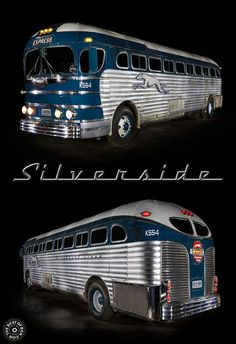 1947 Silverside bus light painted by Ben Willmore. More light paintings at… Vintage Trucks, Old Trucks, Chevy Trucks, Classic Trucks, Classic Cars, Retro Bus, Bus Camper, Campers, Camper