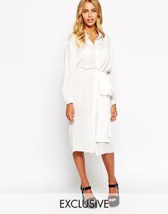 Love Belted Midi Shirt Dress ASOS