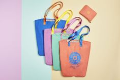 Be ready for anything with our foldable tote. It folds down to pouch size for easy stowing and pops open to make the perfect emergency carry-all (i.e. for those flea markets when you buy way more than can fit in your handbag...)