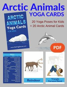 Learn about arctic animals through simple yoga poses for kids! Post includes 11 arctic animals yoga poses + purchase our Arctic Animals Yoga Cards for Kids. Teaching Yoga To Kids, Yoga For Kids, Preschool Learning, Preschool Ideas, Early Learning, Yoga Poses Names, Easy Yoga Poses, Artic Animals, Animals For Kids