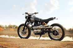 A super-stylish Honda CL360 built by the Wilkinson Brothers.