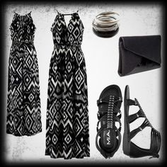 Zebra Print Maxi Dress/ Outfit