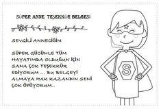 Anneler Günü Etkinlikleri - Okul Öncesi Etkinlik Faaliyetleri - Madamteacher.com