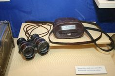 The Teddy Roosevelt Collection: Binoculars and case carried by Roosevelt on African safari