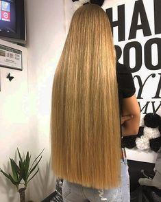 ᗩᑎ GE ᒪ I ᑎᗩ (angelinka_balerinka) Beautiful Long Hair, Gorgeous Hair, Permed Hairstyles, Straight Hairstyles, Long Blunt Hair, One Length Hair, Really Long Hair, Queen Hair, Silky Hair