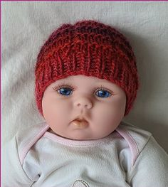 Knitting Patterns Online - Knitting Patterns for Beanies - Brody Knitted Baby Beanies, Knitted Hats, Knitting Needles, Baby Knitting, Purl Stitch, Welcome Baby, Free Blog, Headbands, Doll Clothes