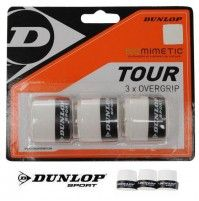 Dunlop Biomimetic Tour Overgrip 3 x Weiss Griffbänder Badminton, Tennis, Company Logo, Tours, Love, Real Tennis