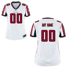 bfee95674 Atlanta Falcons Nike Women s Custom Game Jersey - White Nfl Jerseys For Sale