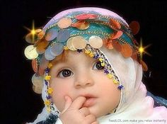 baby hijab Adorable Babies, Funny Babies, Cute Kids, Funny Kids, Precious  Children