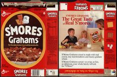 general mills cereal boxes | General Mills - S'Mores Grahams cereal box - 1989 | Flickr - Photo ...