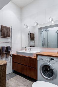 mueble para el lavabo, con un mesado en el que camuflar la lavadora