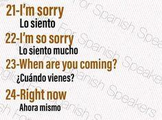 Slang English, Spanish English, English Phrases, Learn English Words, English Writing, Spanish Vocabulary List, Common Spanish Phrases, English Vocabulary Words, How To Speak Spanish