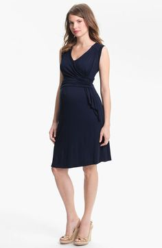 Japanese Weekend Draped Sleeveless Jersey Maternity Dress | Nordstrom