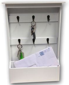 Möbel & Wohnen Ablagen, Schalen & Körbe Mdesign Schlüsselbrett Mit Ablage Wandmontierte Schlüsselleiste Und Briefa