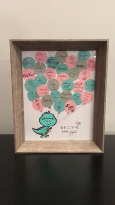 DIY Dinosaur Baby Shower Keepsake for the Nursery - Guest List