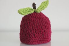 Newborn apple hat. Crochet apple hat. Baby fall hat. Photo props. Fruit hat. Newborn Photo Prop. Fall props. Ready to ship props by enonuno on Etsy