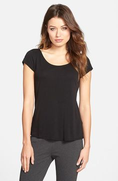 Eileen Fisher Eileen Fisher Cap Sleeve Silk Tee (Regular & Petite) available at #Nordstrom