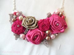 Pink beaded statement necklace Available Online To Buy From Wild Rose Designs For A Great Deal On Pink beaded statement necklace Or Any Other Unique Handmade Craft Gifts And Creative Gift Ideas Visit Stallandcraftcollective.co.uk #4355