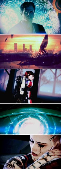 When people try to tell you video games can't be art, you show them these Mass Effect stills.