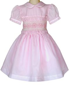 0a584f90d328f Vintage Victoria Organza Pink Smocked Girls Dress 4T/5 – Carousel Wear