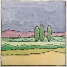 Watercolour 7cmx7cm #watercolor #watercolour #mayo #irishart #landscape #mayo Watercolor Illustration, Watercolour, Land Scape, Iris, Illustrations, Painting, Pen And Wash, Watercolor Painting, Irise