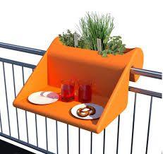 Balcony Desk Orange By Michael Hilgers. With The Balkonzept Balcony Desk You Can Balustrade Balcon, Balustrades, Planter Table, Planter Boxes, Interior Exterior, Interior Design, Balcony Railing, Balcony Design, Tiny Balcony