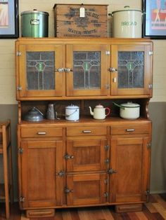 Upcycled Art Deco Bow Front Leadlight Kitchen Dresser Cabinet Antiques Gumtree Australia