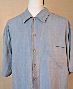 Croft-amp-Barrow-Mens-039-Hawaiian-Shirt-Blue-Size-Medium-100-Silk
