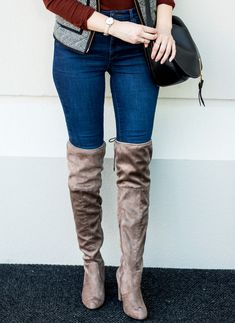 suede over the knee boots | how to style OTK boots for winter