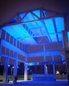 #Torino #Turin #urbansafari #ParcoPeccei #night #blue #lights