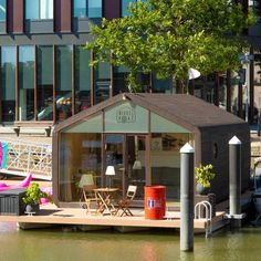 Check & book our Wikkelboats & De Coaster 100 Euro, Floating House, Jacuzzi, Rotterdam, Tiny House, Coasters, Holland, Sweet Home, Hotels