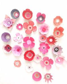 Owl Crafts, Flower Crafts, Easter Crafts, Diy And Crafts, Arts And Crafts, Horse Crafts, Egg Carton Crafts, Egg Carton Art, Egg Cartons