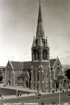 Postcards of the Past - Vintage Postcards of Christchurch, NZ Nz South Island, Nz History, Gloucester Street, Anglican Cathedral, Christchurch New Zealand, Princess Cruises, British Isles, Fun To Be One, Vintage Postcards