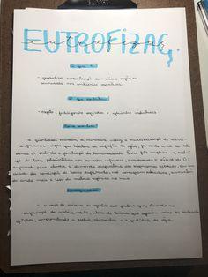 EUTROFIZAÇÃO RESUMO Notebook, Study, Journal, Personalized Items, Wallpaper, Studying, 15 Years, Tips, Studio
