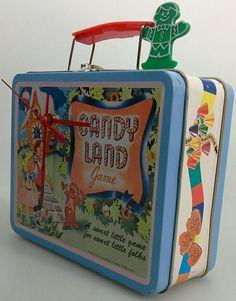 Artist Cheryl Scott.  Clock made from recycled lunch box.