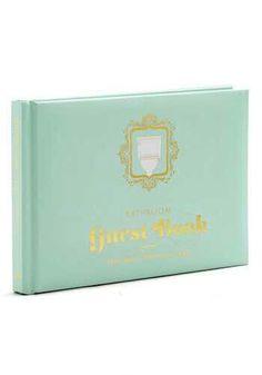 Bathroom Guest Book.