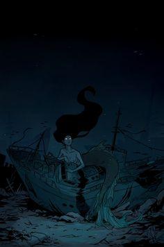 Ideas for drawing mermaid lights Fantasy Mermaids, Mermaids And Mermen, Siren Mermaid, Mermaid Art, Mythical Creatures, Sea Creatures, Mermaid Drawings, Merfolk, Dark Fantasy Art