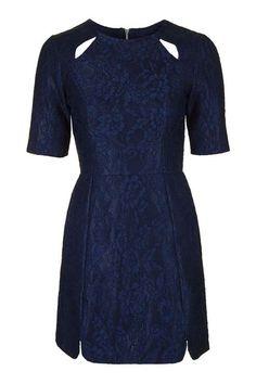Bonded Lace A-Line Dress