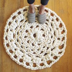I still love this doily rug made out of cotton rope. I'm sure it's crazy expensive to make, but I'll have to look into it