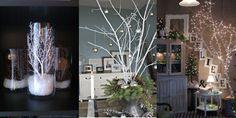 Über Äste haben wir schon viel geschrieben. Sie sind leicht zu finden und man kann jede Jahreszeit etwas tolles daraus machen. Vor allem im Herbst und Winter kommen sie beim Dekorieren häufig zum Einsatz. Diese verzierten Äste sind so hübsch, dass man eigentlich gar keinen Weihnachtsbaum mehr braucht!