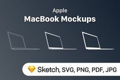 Apple MacBook Mockups by UX Misfit Store on @creativemarket
