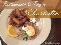 12 Restaurant Recommendations in Charleston, SC. Don't miss out on all the delicious southern food!