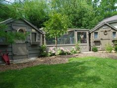 Chicken coop/yard and garden shed...love it. Very nice = )