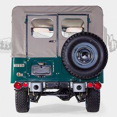 1972 Toyota Land Cruiser FJ43 Rustic Green #fjcompany #fjrestoration #toyota #landcruiser #fjco1972rusticgreen